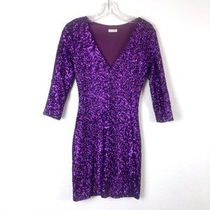 Rubber Ducky Purple Sequin Dress XS/S
